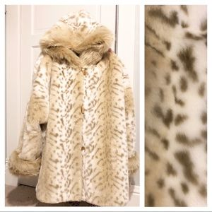Coldwater Creek Oversized Faux Fur Toggle Coat XL